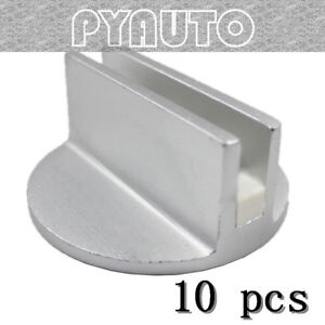 10 Sets Superior Silver Slotted Magnetic Jack Pad Pinch Weld Frame Rail Adapter