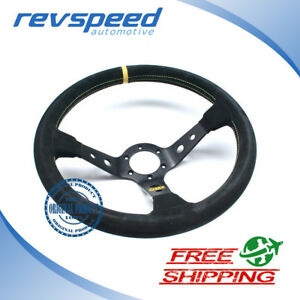 Omp Corsica Black Suede 350mm Steering Wheel Od 1954 N New Authentic