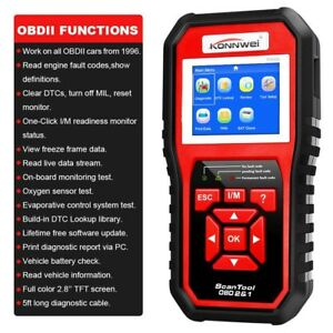 Automotive Code Reader Engine Check Scanner Obdii Diagnostic Tool Konnwei Kw850