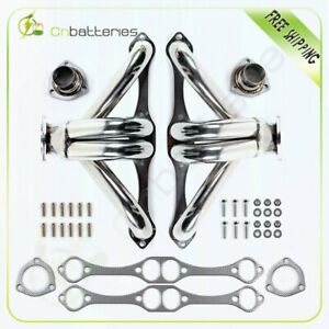 Stainless Steel Header exhaust For Small Block Chevy gmc Hugger 327 305 350 400
