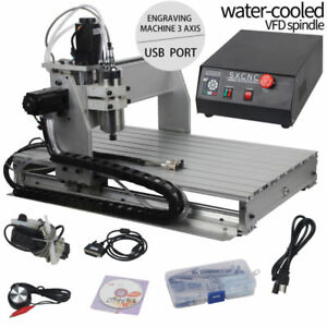 3 Axis 6040 Usb Cnc Router Engraving Milling Machine 64 bit System 3d Cutter Us