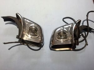 1949 50 Oldsmobile Rear Bumper Guards License Plate Lights Hot Rod Rat Rod