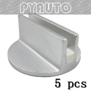 5 Sets Superior Silver Slotted Magnetic Jack Pad Pinch Weld Frame Rail Adapter