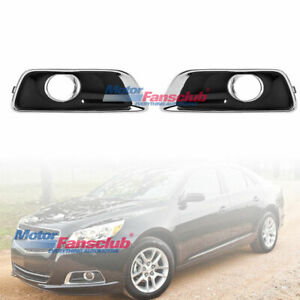 2pcs Replacement Fog Lamp Light Cover Bezel For Chevy Malibu 2012 2013 2014