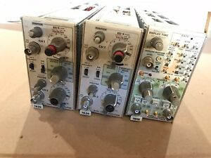 Tektronix Lot Of Two 7a26 One 7d15 Modules Counter Timer Dual Trace Amplifier