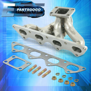 For 89 99 Mitsubishi Eclipse Eagle Talon Plymouth Laser Exhaust Turbo Manifold