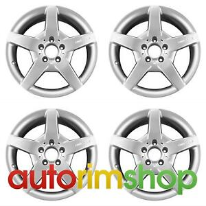 Mercedes Clk350 Clk430 2006 11 17 Factory Oem Amg Staggered Wheels Rims Set