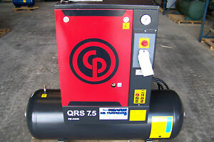 Chicago Pneumatic Qrs 7 5 Hp 1 Phase New Rotary Screw Compressor
