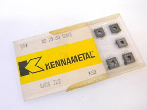 New Surplus 10pcs Kennametal Snmg 322 Grade K68 Carbide Inserts