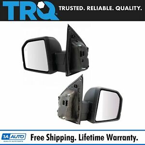 Mirror Power Heated Signal Blind Spot Textured Black Pair Set Of 2 For Ford New