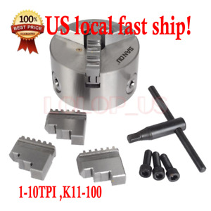 1 Pc Lathe Chuck 4 Dia 3 Jaw Self Centering 1 10tpi K11 100 Sct888 Us