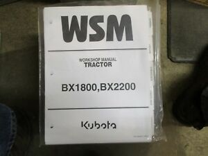 Kubota Bx1800 Bx2200 1800 2200 Tractor Service Repair Manual