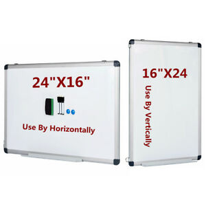 Vertical Compatible Dry Erase Board Magnetic Markers Small Whiteboard 24 X 16