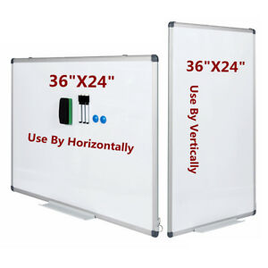 Vertical Compatible Dry Erase Board Magnetic Markers Whiteboard 36 X 24 Office