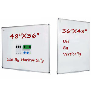 Vertical Compatible Dry Erase Board Magnetic Markers Whiteboard 48 x36 Large