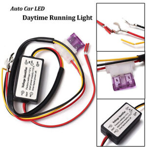 Motorcycle Car On Off Led Daytime Running Light Relay Harness Drl Control Dimmer