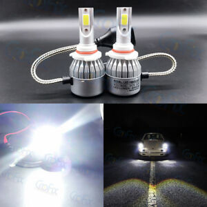 New 9006 Hb4 6000k Super White 8000lm Cree Led Headlight Bulbs Kit High Low Beam