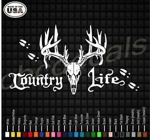 Country Life Hunting Deer Decal Window Pillar Sticker Back Glass Trucks Diesel