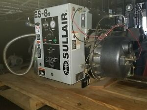 Used 15 Hp Es 8 Sullair Rotary 3 Phase