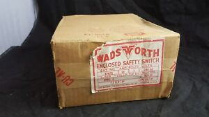Wadsworth 3 Pole Enclosed Safety Switch 8762n 60a 240v New