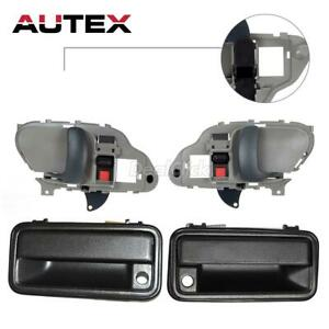 Door Handle Inside Outside Kit Set Of 4 For 95 2000 Chevy Gmc Pickup Truck Suv
