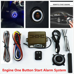 Car Security Alarm System Induction Remote Control Engine One Button Start Kit