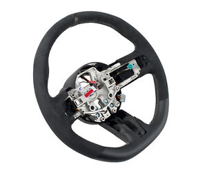 2015 2017 Mustang Shelby Gt 350 Silver Stitched Black Leather Steering Wheel