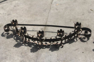 Wrought Iron Wall Candle Sconce Curved 43 W X 9 H