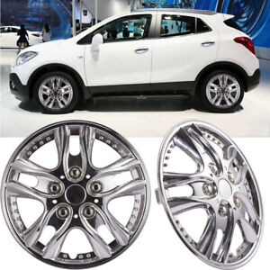 14 Inch Hubcaps For Car Vihicle Chrome Wheel Skin Cover 4 Pieces Abs Hub Cap New