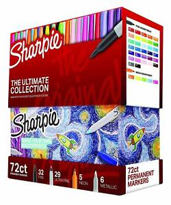 New Sharpie 72 piece Ultimate Pack Fine ultra Fine Point Assorted Colors