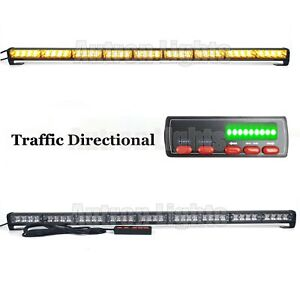 39 Led Traffic Advisor Warning Directional Arrow Strobe Light Bar Amber Yellow