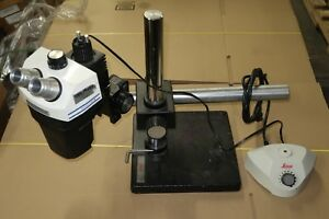 Bausch Lomb Stereo Zoom 7 Microscope Leica Illuminator Weighted Boom Stand