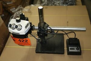 Bausch Lomb Stereo Zoom 7 Microscope Illuminator Light Weighted Boom Stand