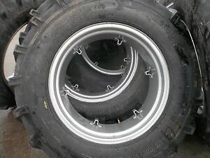 Two Ford 4000 Tractor 14 9x28 14 9 28 8 Ply Tires W 6 Loop Wheels