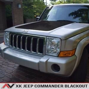 Jeep Commander Xk Hood Blackout Matte Black Free Shipping Fits 2006 2010