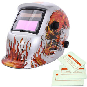 Solar Powered Grinding Function Auto darkening Welding Helmet With 3 Spare Lens