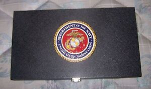 Us Marines Corps Usm Navy Medal Badge Pin Jewelry Coin Display Box Case Unit Lot
