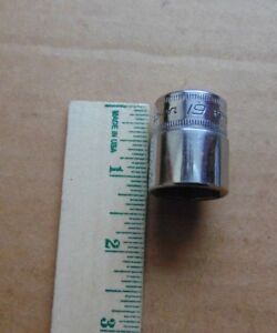 Vintage Snap On Tools Usa 3 8 Drive 6 Point 19mm Metric Shallow Socket Fsm191