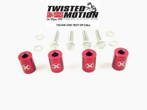 Hood Spacers For Nissan 240sx Sr20det S13 S14 red