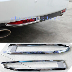 For Honda Crosstour 2011 2013 Abs Chromed Rear Fog Lamp Cover Trim 2pcs set