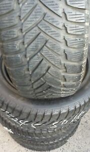 Set Of 4 Used 245 50 18 100h Dunlop Sp Winter Sport M3 Snow Tires 8 9 32