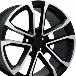 20 Fits Chevrolet Camaro Zl1 Style Wheels Matte Black Machined 8 5 9 5 Set Cp