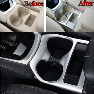 Matte Car Center Console Cup Holder Cover Trim For Nissan X Trail Rogue 2014 16