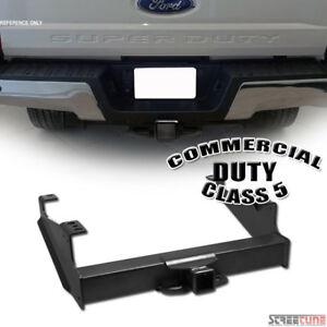 Class 5 v Matte Blk Trailer Hitch Receiver Towing Commercial 2 5 99 17 F350 450