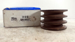 1 New Martin 3b80sd V belt 3 Groove Pulley Nib make Offer