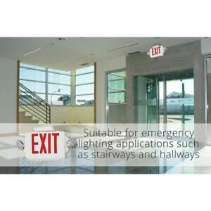 Exit Sign Emergency Combo Safety Signage Side Lamp Plastic Led Head 2 lighting