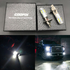New 2x H1 6000k Super White 100w Cree Led Headlight Bulbs Kit Fog Driving Light