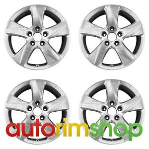 Acura Tsx 2009 2014 17 Factory Oem Wheels Rims Set Machined With Silver