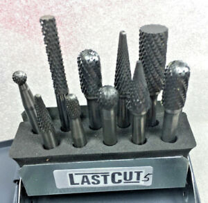 Set Of 10 Carbide Crosscut Bur Burr 1 4 6mm Shank Huot Case no 4