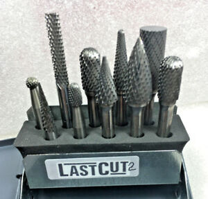 Set Of 10 Carbide Crosscut Bur Burr 1 4 6mm Shank Huot Case no 2